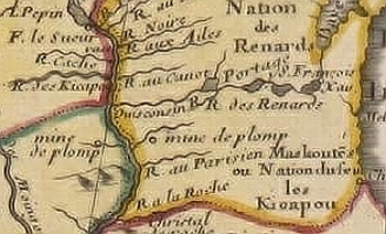 map of Guillaume Delisle 1703 - detail